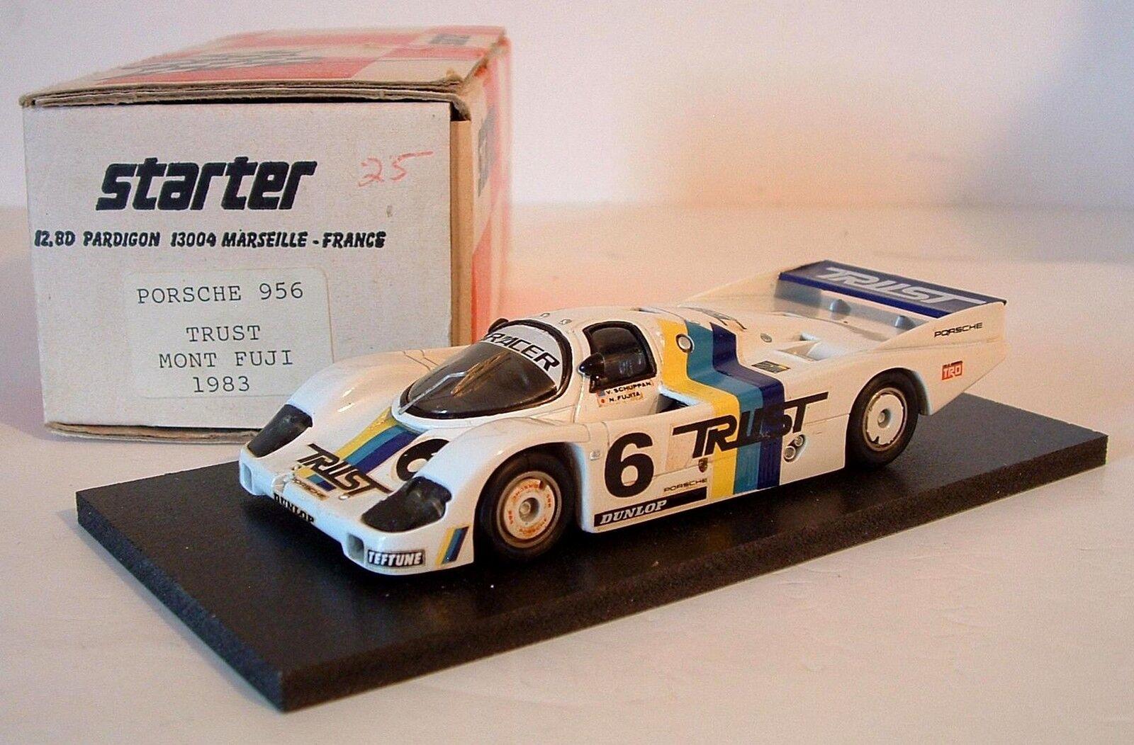 Starter 1 43 Porsche 956 WSC Mount Fuji 1983  6 Trust Schuppan Handbuilt Model