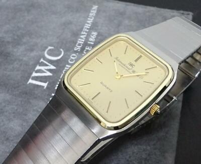 IWC Square Rare 3801 Yellow Gold x Stainless Quartz 36×30mm   eBay