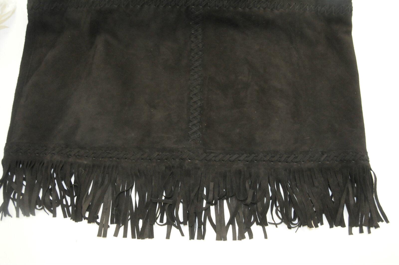 Tamara Mellon Camoscio Nero Nero Nero Frangia Vestito Cagliato Jimmy Choo Founder 4 6 dfbaf7