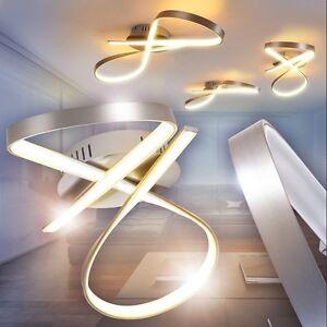 Dettagli su Lustro LED Design moderno a fasce LED Plafoniera Illuminazione  Soggiorno 139016