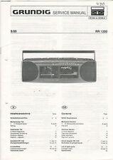 Grundig Service Anleitung Manual Tuner RR 1200   B1070
