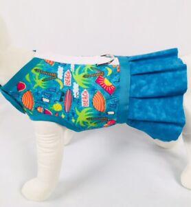 Life-039-s-A-Beach-Dog-Harness-Vest-Dress-With-Ruffle-Skirt