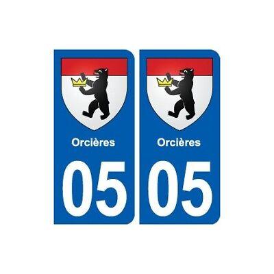 05 Orcières Blason Ville Autocollant Plaque Stickers - Angles : Arrondis Il Massimo Della Convenienza