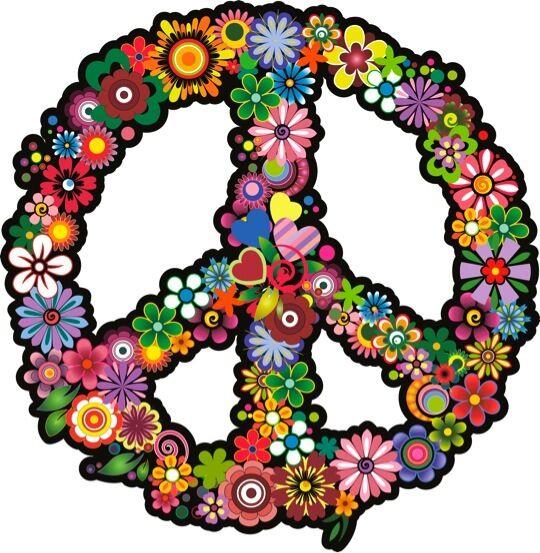 PEACE SYMBOL #1 IRON ON T SHIRT TRANSFER /VINTAGE FLORAL ART HIPSTER RETRO PRINT