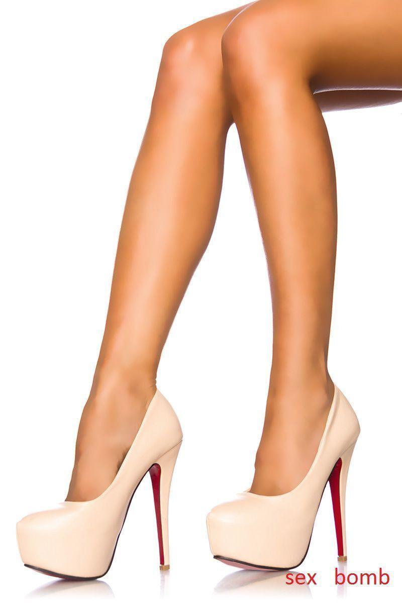 prezzi all'ingrosso SEXY scarpe decolte NUDE plateau TACCO rosso spillo 14 14 14 n. 39 fashion GLAMOUR     consegna e reso gratuiti