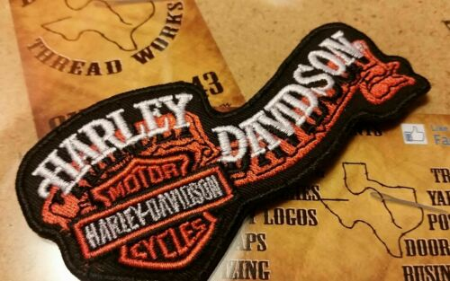 EMBROIDERED HARLEY DAVISON MOTORCYCLE PATCH