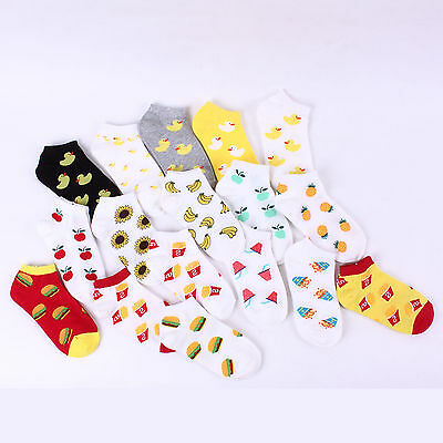 Free postage (Buy5+Gift1) Women Pattern Casual Fashion Socks Ankle Crew Knee