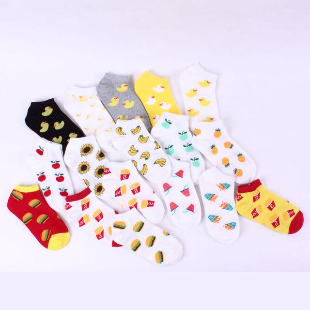 [Buy5+Gift1] Choice [Fruits Pineapple Snacks Duck] Pattern Socks !!  Knee Socks