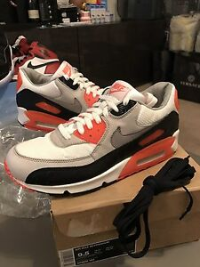 size 40 4a418 86715 Image is loading 2008-Nike-Air-Max-90-Infrared-QS-Ostrich-