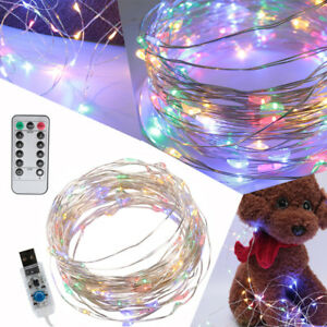 50led 17ft Usb Powered Multi Color Changing String Fairy Lights With