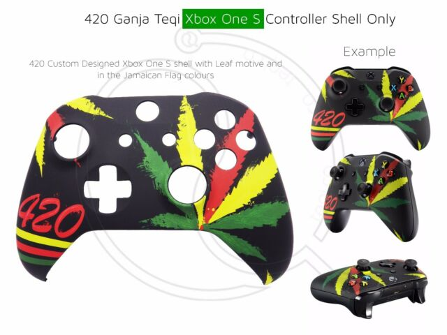 Xbox One S Controller 420 Weed Kush Ganja Front Shell Unique Finish Mod