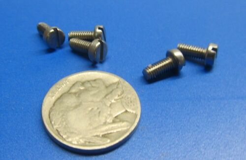 200 pcs 18-8 Stainless Cheese Head Slotted Metric Machine Screw M3.5 x 8 mm L