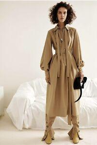 OldCelineArchive CELINE DRESS IN TAN  SILK & COTTON FAILLE (34)Phoebe PHILO 2016