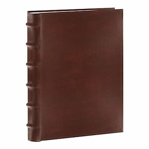 300 Pocket Pioneer Photo Album Sewn Bonded Leather Cover Brown Memo Writing New