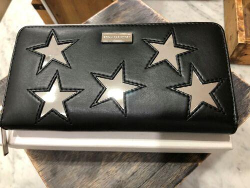 Stella McCartney Alter Nappa Continental Zip Around Clutch Star Wallet $525