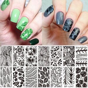 Nail Art Stamp Plate Manicure Image Template Leaf Design Born Pretty