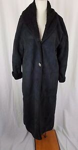 Image is loading County-Clothing-Co-Vegan-Suede-Faux-Shearling-Long-