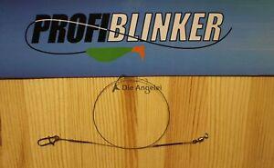 2 Stück Profi Blinker, 1x7 Stainless Tungsten-Titanium Spinnvorfach,Stahlvorfach