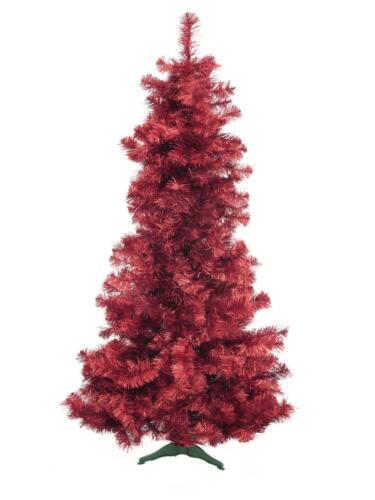 EUROPALMS Tannenbaum Weihnachtsbaum FUTURA 210cm rot-metallic