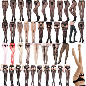 Sexy-Women-Lady-Lace-Thigh-High-Knee-Socks-Long-Stockings-Hosiery-Nightclub-Lot