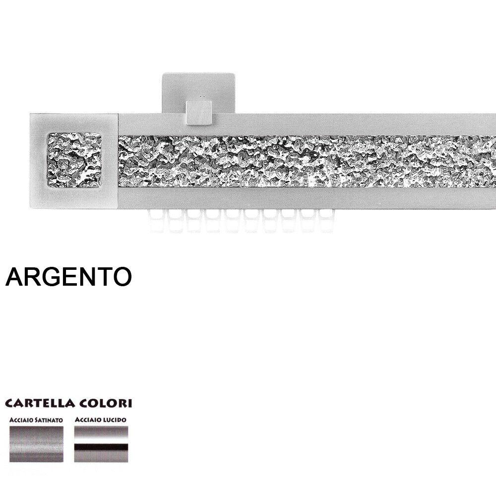 Scorritenda Corda Strappo Bastone Tenda Piatto Alluminio Terminale plata