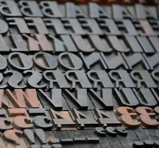 Art Deco Letterpress Wood Printing Blocks 171pcs 051 Tall Wooden Type Woodtype