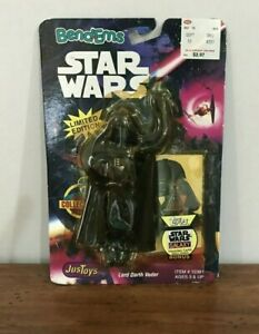 Vintage-Star-Wars-Bendems-Figure-Darth-Vader-Topps-Card-Just-toys-New-1993