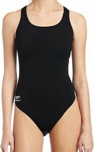 Speedo-Women-039-s-Swimwear-Black-Size-28-Endurance-One-Piece-Swimsuit-69-087