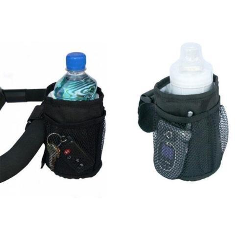 New Baby Pushchair Stroller Cup Holder Drink Pocket Bag Phone Holder Bags 6A