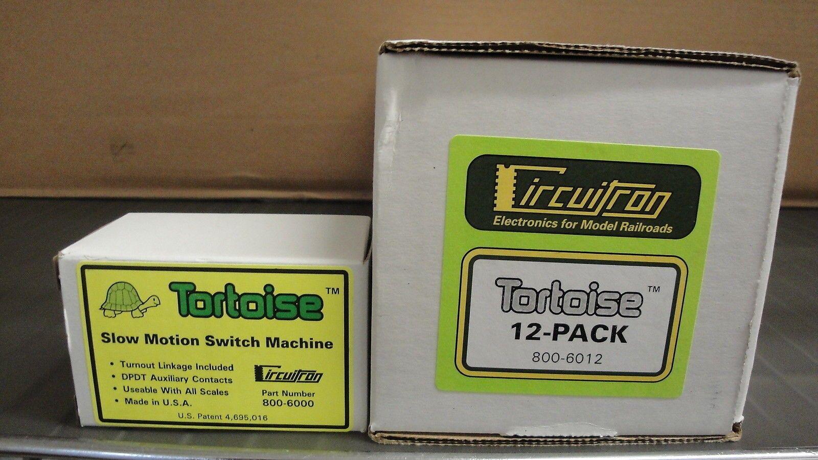 CIRCUITRON 6012 12-PK Tortoise Switch Machine Slow-Motion Turnouts MODELRRSUPPLY