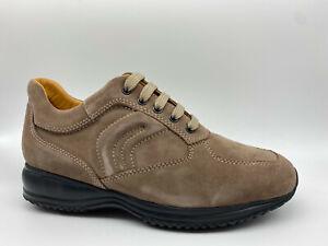 Scarpe Sneakers Geox Happy Camoscio beige tipo Hogan Interactive ...