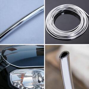 15m Length Chrome Moulding Trim Strip Car Door Edge Scratch Guard Protect Cover