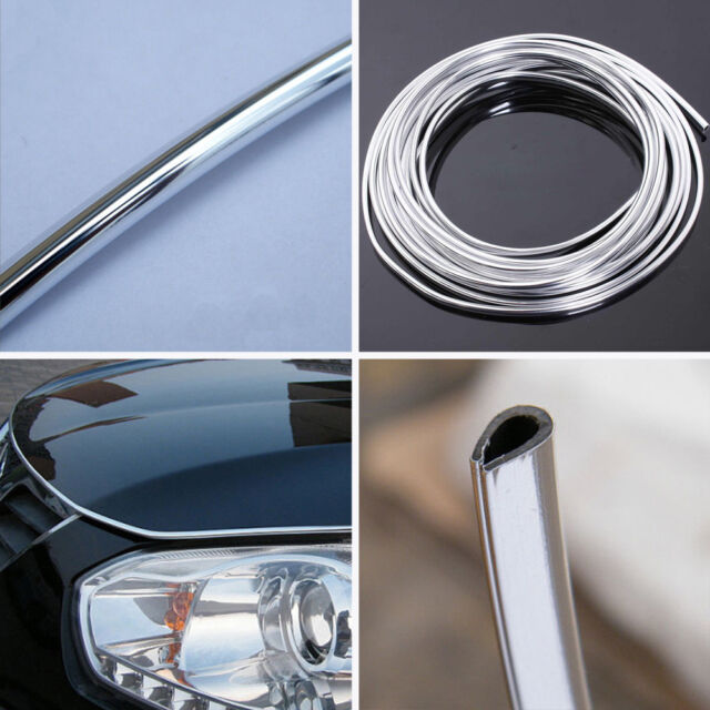 15M U-Shape Chrome Moulding Trim Strip Car SUV Door Edge Guard Protector Cover