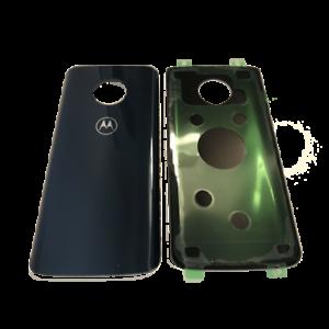 Akkudeckel-Backcover-Moto-G6-Schwarz-Black-Neu-Inkl-Aufkleber