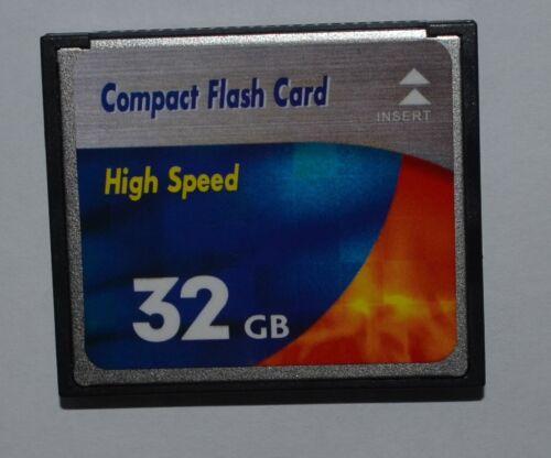 32gb CF High Speed 32 gb Compact Flash tarjeta de memoria para cámara digital
