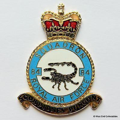 RAF 84 Squadron DANBURY MINT Blank Badge -24ct Gold Detail 1970s Royal Air Force