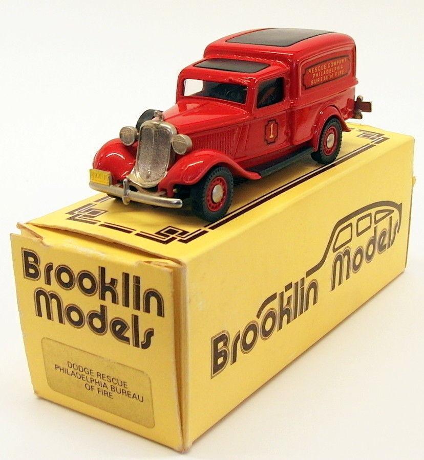 Brooklin maßstab 1  43 brk16 037 - 1936 in dodge van philadelphia bureau of fire