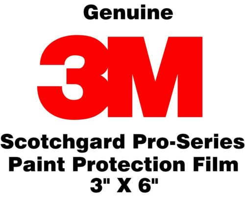 """3/"""" x 6/"""" 3M Scotchgard Paint Protection Film Pro Series Sample Size Pack of 5"""