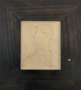 Jean-COCTEAU-Dessin-original-signe-Georges-Auric-1923-Avec-certificat