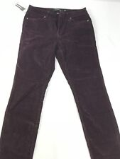 Calvin Klein Jeans Women's Ultimate SKINNY Corduroy Pant Size 6 X 32 Plum