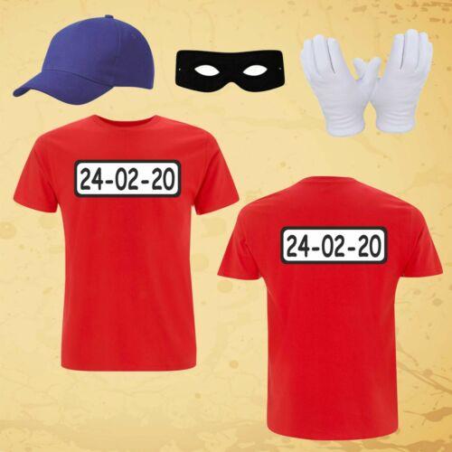 """Kostüm für Panzerknacker Fans/""""BEIDSEITIG/"""" T-Shirt Karneval Fasching Gruppe S-6XL"""