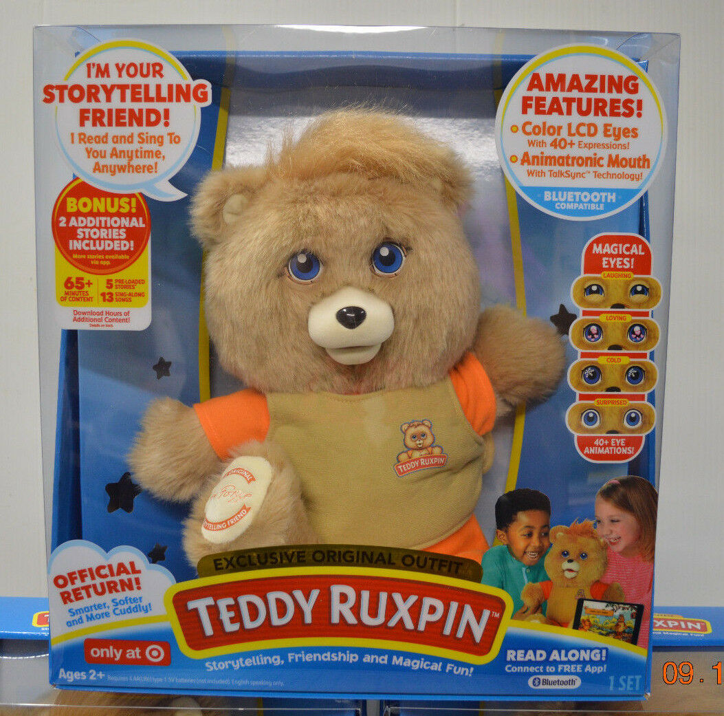 TEDDY RUXPIN 2017 ANIMATED BEAR ORIGINAL OUTFIT bluTOOTH TARGET BRAND NEW