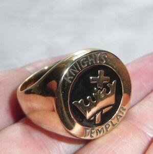 Men-039-s-Knights-Templar-Ring-Medieval-Christian-Jesus-Christ-Jerusalem-Evangelical
