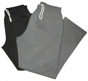 2-PREOWNED-MINT-DARK-GRAY-amp-BLACK-GILDAN-OPEN-BOTTOM-SWEATPANTS-GYM-PANTS-XL