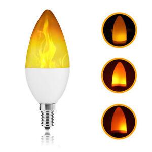 Atmosphère Flare Feu E12 Ampoule Lumière Décor Flamme Bougie Led 5Sc4LARq3j