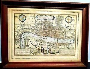 Londinum-Feracissimi-Angliae-Regni-Civitates-Orbis-London-Metropolis-map-framed