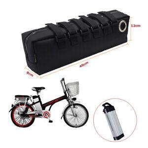 Electric Bike Rear Bag Storage Bicycle E-bike Panniers PVC 18650 Battery Case