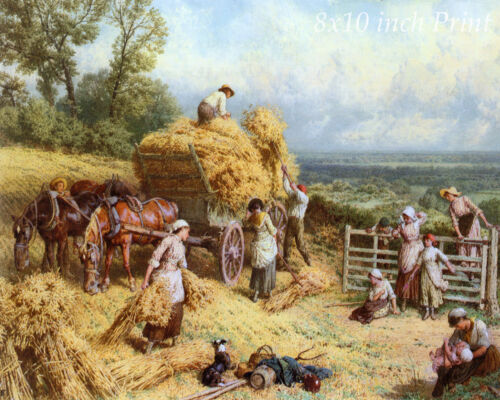 Harvest Time by Myles B Foster Country Land Work Horse 8x10 Print Picture 1614