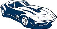 1968 -1972 Pro Street Corvette 69 70 71 Vinyl Decal Your Color Choice Sticker