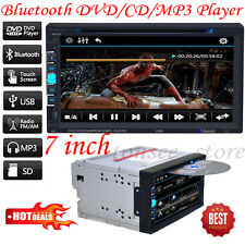 "7"" TFT 2Din Bluetooth Touch Screen Car CD/DVD FM Radio MP3 MP5 Player US STOCK"